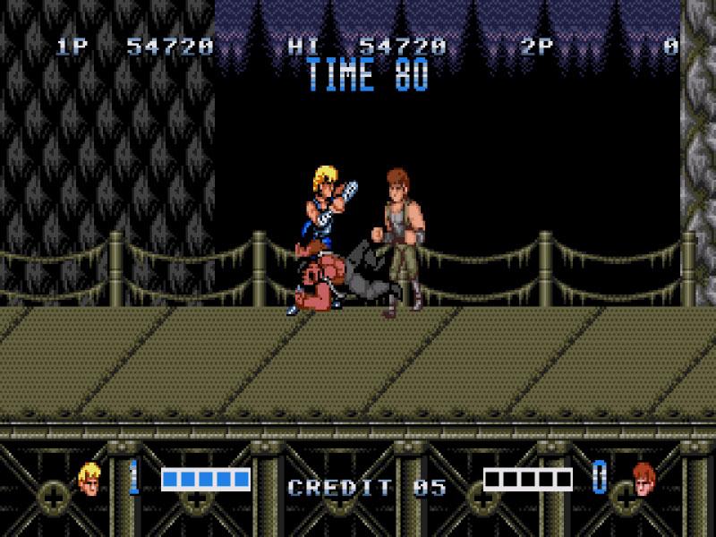 Double Dragon on the Sega Mega Drive