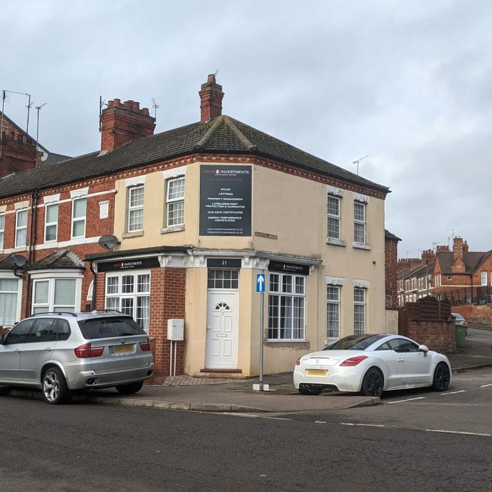 The corner of Mill Road and Gordon Road, Wellingborough